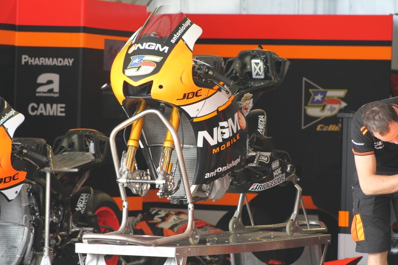 MotoGP Bikes In Various States Of Undress