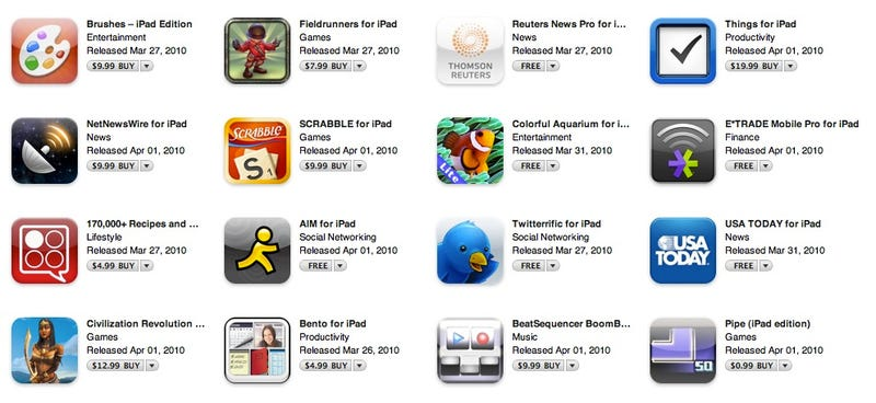 The iPad App Store Is Live