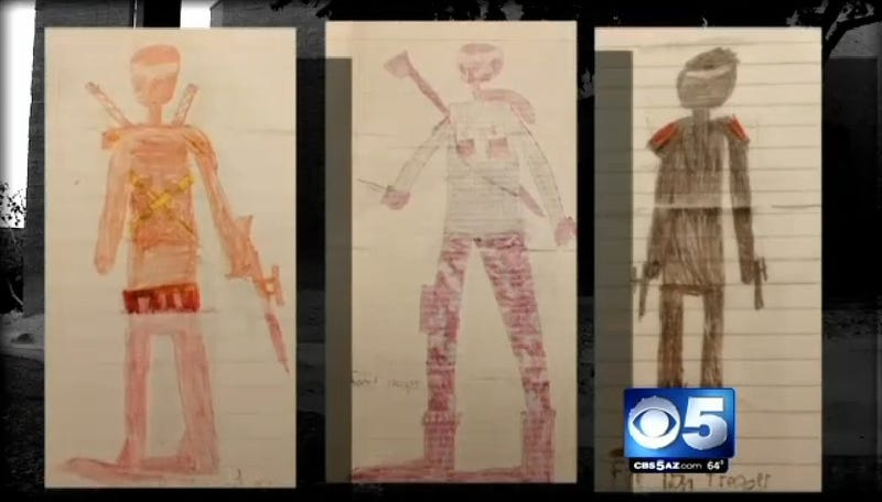Little Boy Threatened with Expulsion Over Halloween Costume Drawings