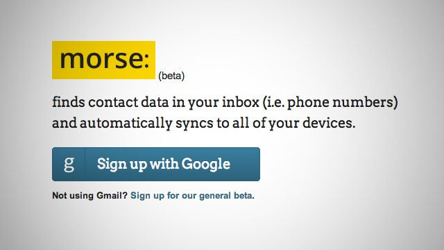 Morse Pulls Contact Information from Your Gmail Messages and Syncs Them to Your Address Book