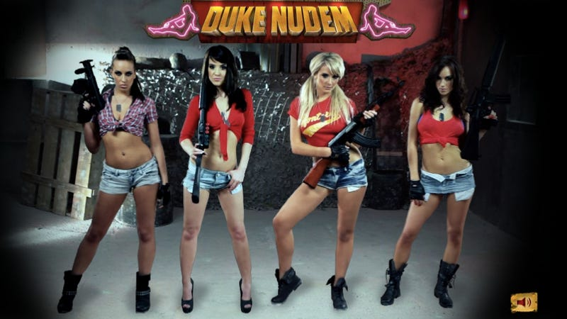 Shoot Targets to Get Duke Nukem Girls Topless