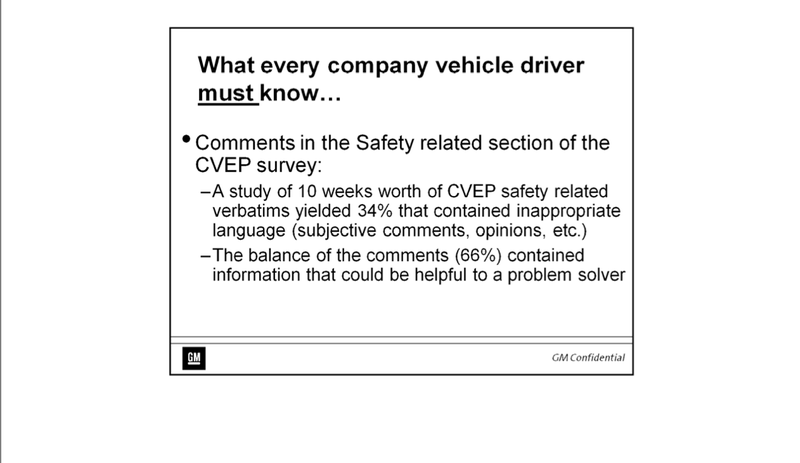 This Disturbing Powerpoint Shows Why GM Failed To Protect Customers