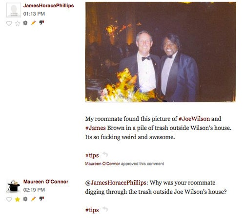 Comment of the Day: The Joe Wilson/James Brown Trash Photo Mystery
