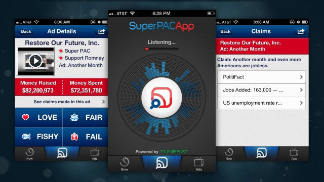 Super PAC App for iPhone Listens to Political Ads to Verify Claims