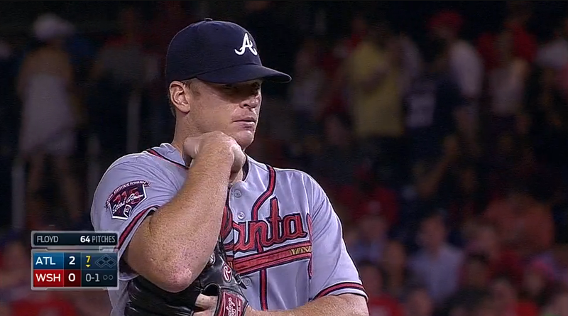 Gavin Floyd Leaves Braves-Nats Game With A Very Gross Elbow Injury