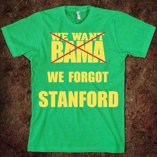 Alabama Fan Updates Oregon Fans' T-Shirts