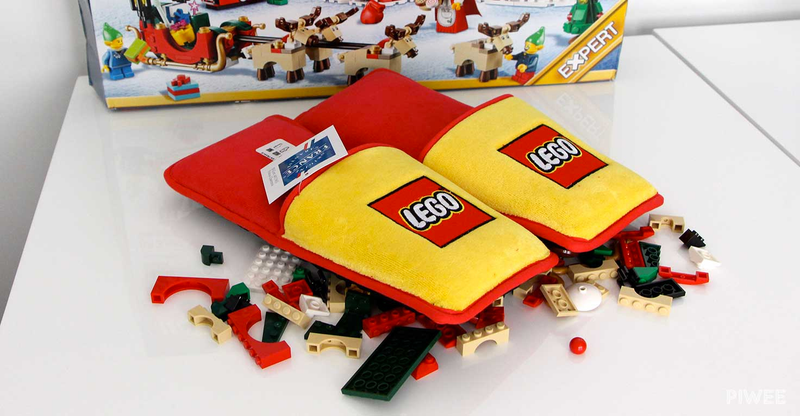 Wouldn't you love to see these Lego slippers under the tree this Christmas?