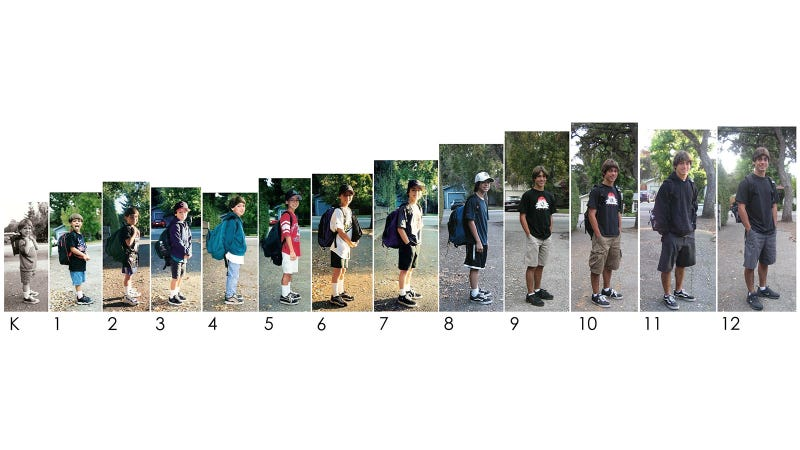 See an Adorable Kid on 13 Consecutive First Days of School
