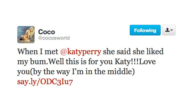 Katy Perry, Like the Rest of Us, Is a Big Fan of Coco's Ass
