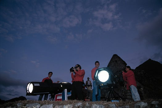 Giant Light Canons Can Decorate Entire Mountains From One Kilometer Away