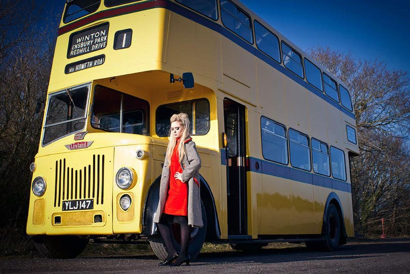 It's Friday, So Let's Look At Some Pretty Girls And Old Buses