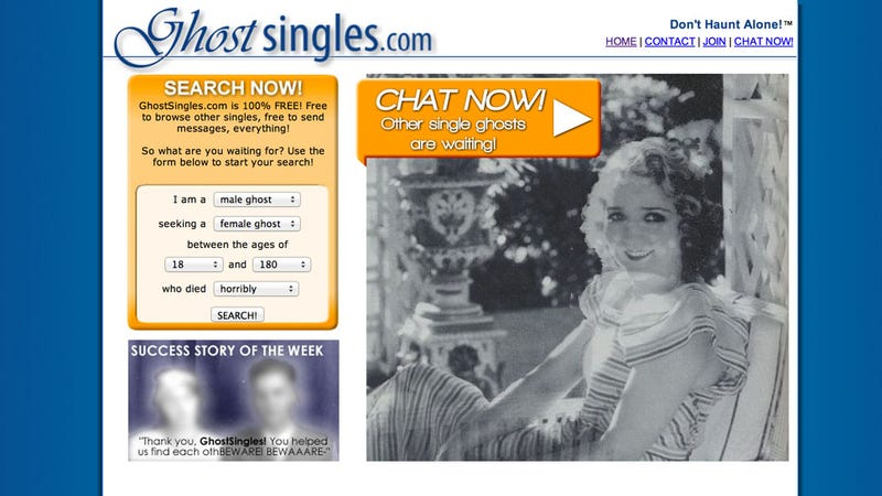 There's A Dating Site For Ghosts . . . So Yeah We Can All Go Home Now