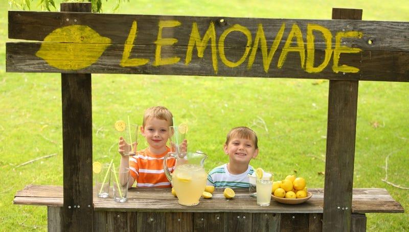 Preteen Boy Holds Up Lemonade Stand with a BB Gun