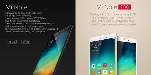 Xiaomi Mi Note: A Sleek iPhone 6 Plus Alternative?