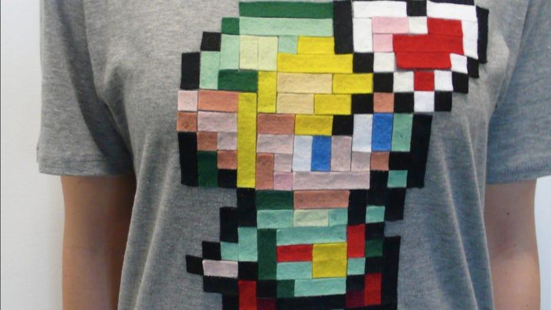 Hand-made Felt Zelda Shirts for a Very, Very Good Cause
