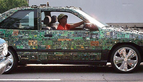 Circuit Board Car: Rollin' With a Supergeek