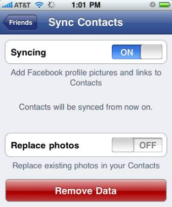 Facebook for iPhone Gets Push Notifications, Contact Sync