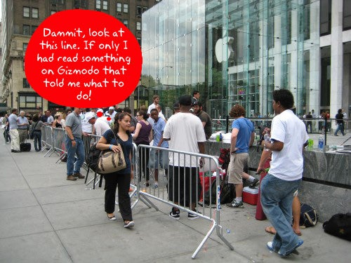 Line Camping Tips and Gadgets For the 3G iPhone Launch