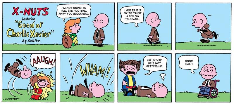 Peanuts Meets X-Men, Calvin and Hobbes Meets Spider-Man, and More Scifi/Comics Mashups
