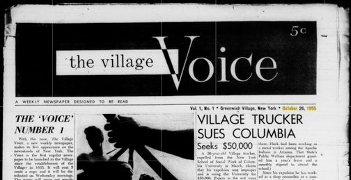 Remembering When the Village Voice—and New York City—Mattered