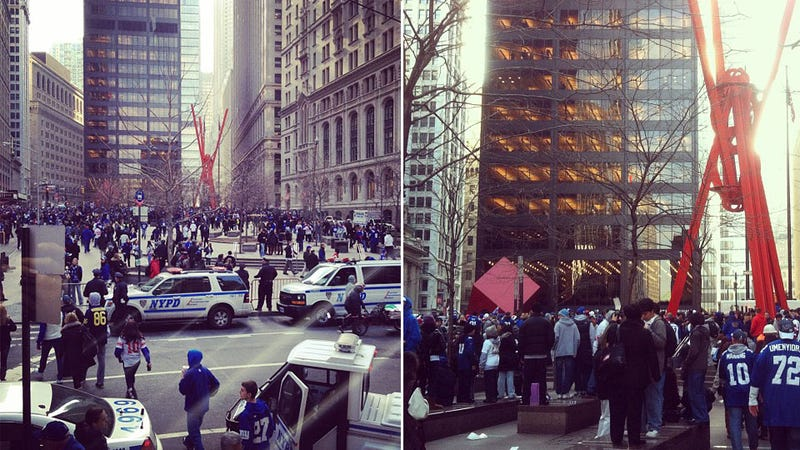 Giants Fans Occupy Zuccotti Park, Demands Unclear