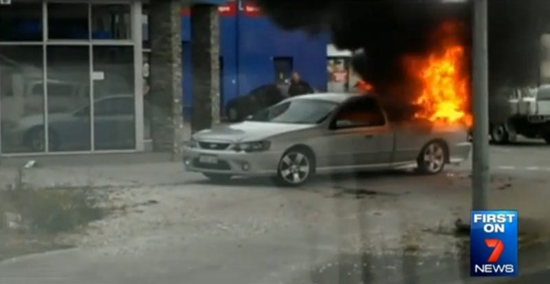 Auto Tech Still Gets To Work After His Ute Bursts Into Flames