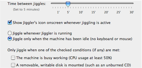 Keep your Mac awake with Jiggler