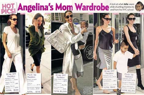 'Us Weekly' Takes Obsession With Angelina's Outfits All The Way To The Checkout Counter