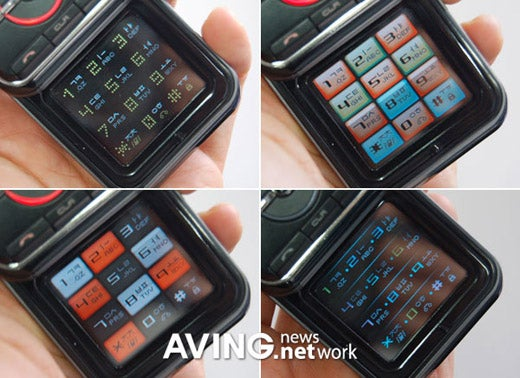 Better Shots of the Pantech Double LCD Touchpad Phone