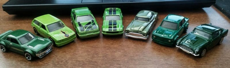 And some green Hot Wheels since it's St. Patrick's Day