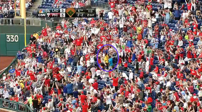 Philly Vendor Catches Foul Ball In Beer Bucket On His Head