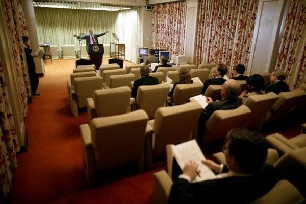 White House Home Theater Reveals Laura Bush's Bordello Tastes