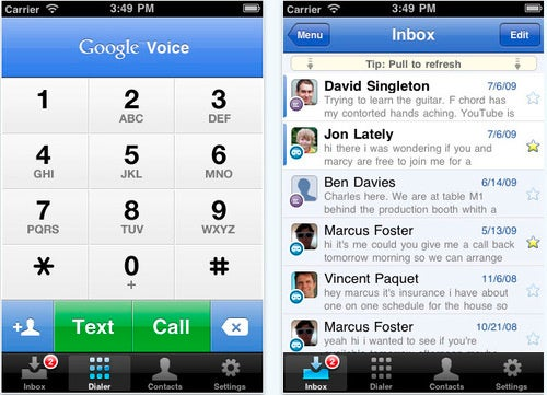 Google Voice is Now Available For iPad and iPod Touch