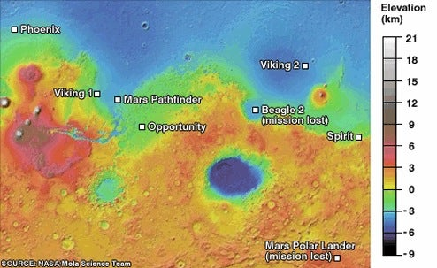 NASA Spirit Rover Celebrates Five Productive, Dusty Years On Mars