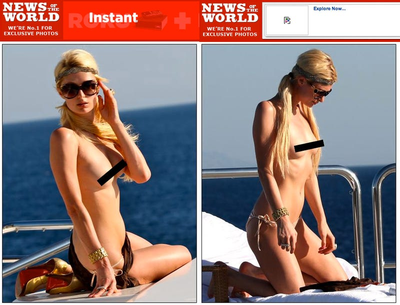 Can Paris Hilton's Boobs Distract America From Kim Kardashian's Butt?