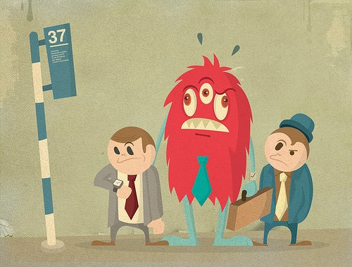 Retro Illustrations of Monsters at Work and Play