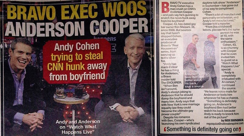 Andy Cohen Wants Anderson Cooper to Be His Boyfriend