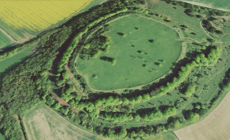 Stunning Aerial Images of Hill Forts from Britain's Iron Age