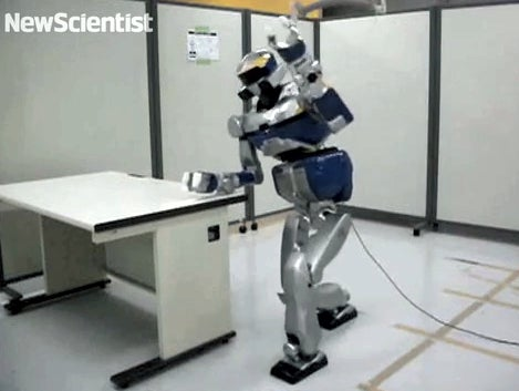 HRP-2 Robot Turns Obstacles Into Tools