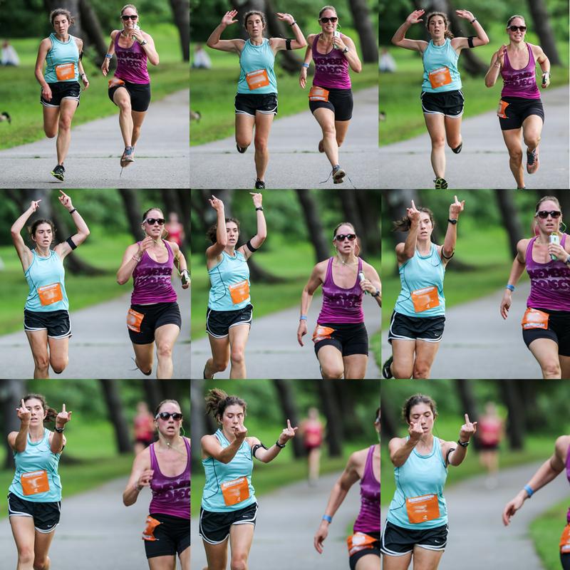 Runner Flips Off Competitor, Whole Cruel World