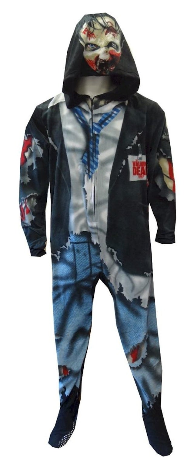 Behold the majesty of the official Walking Dead zombie footie pajamas