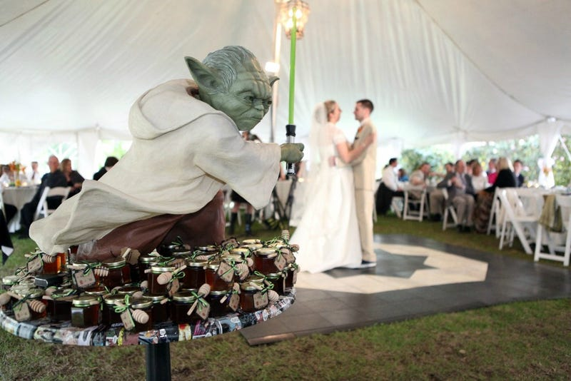 This couple's wedding may have been the geekiest wedding ever
