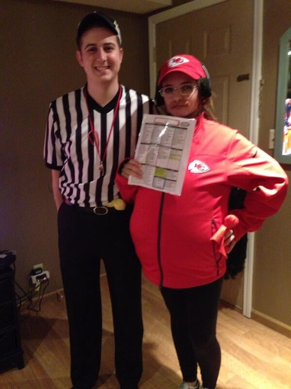 This Girl's Andy Reid Halloween Costume Is Perfect