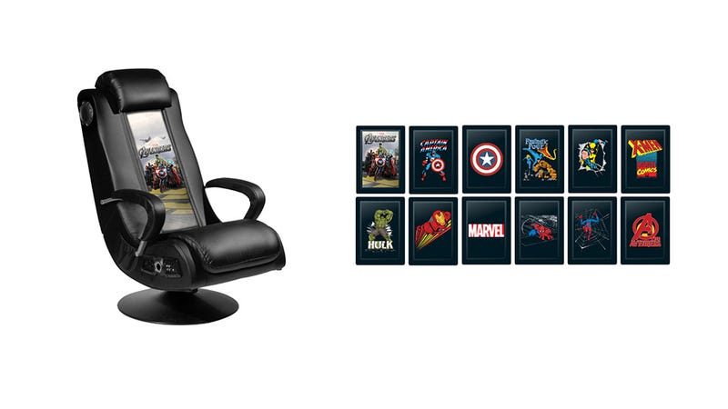 Marvel Comics Pleather Gaming Chair Is the Nerd Throne You've Been Dreaming Of
