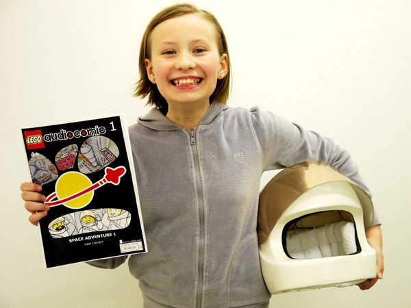 Use your LEGO helmet to listen to comic books