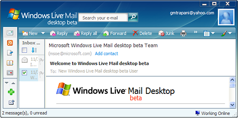 Screenshot Tour: Windows Live Mail Desktop beta
