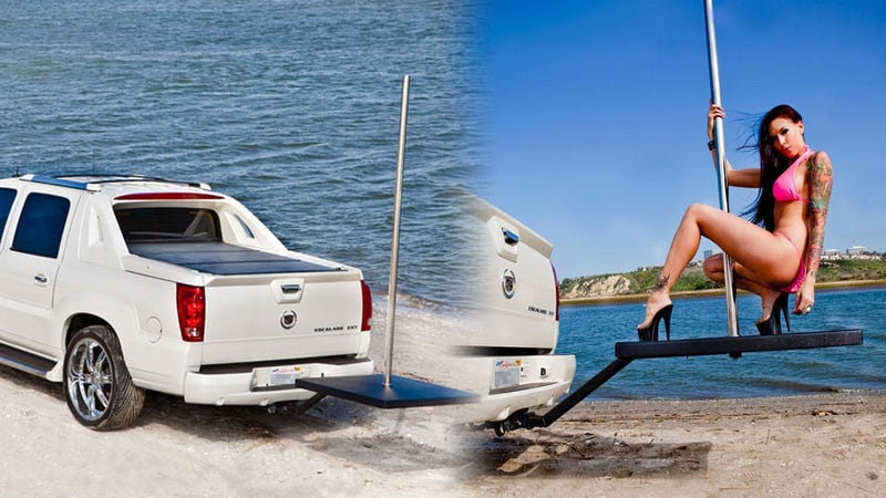 The Mobile Stripper Pole Is The One Accessory That Makes An Escalade EXT Useful