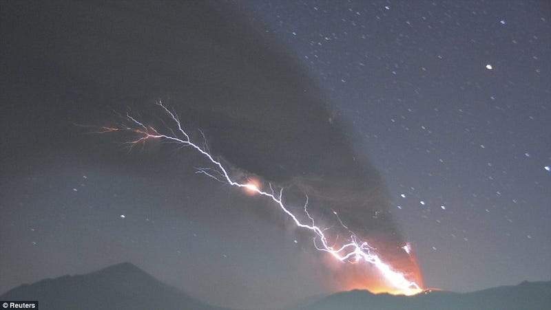 When Lightning Strikes Erupting Volcanoes