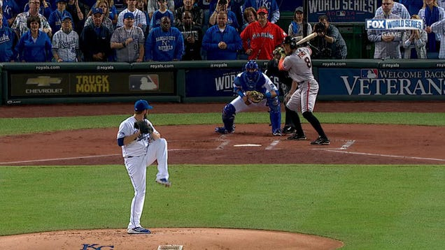Who's that Marlins fan sitting behind home plate at the World S…
