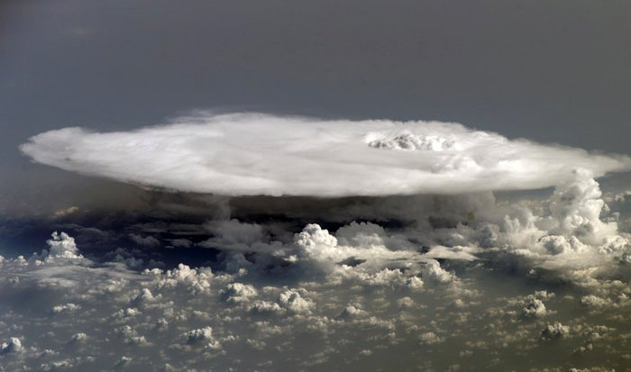 A View of Thunderheads Brewing from Space